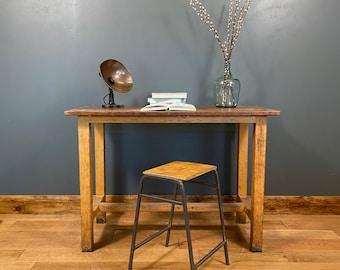 Vintage Desk & Stool / Old School Science Bench Desk / Kitchen Island  /Office D