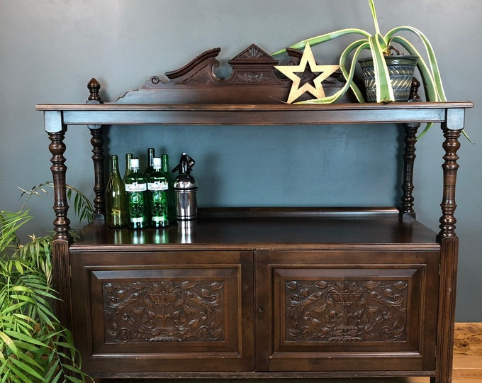 Antique Sideboard / Mahogany sideboard /  Cocktail Cupboard / buffet server / Drinks  Cabinet
