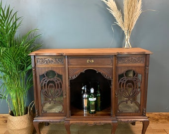 Antique Chiffonier Mahogany Sideboard Cocktail Cupboard Cabinet