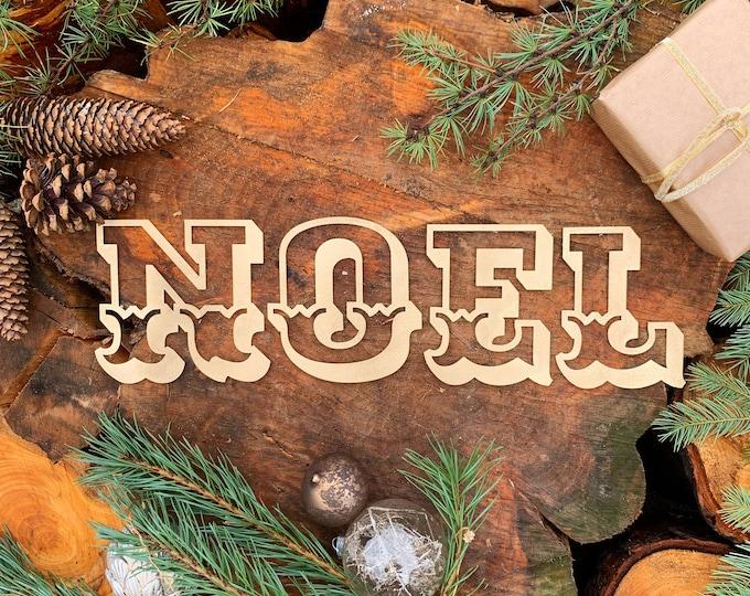 Rustic gold Carnival NOEL mantle CHRISTMAS Lettering Metal Nordic decoration