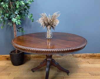 Antique Mahogany Table / Occasional Tea Table / Tilt Top Table /  Library Table