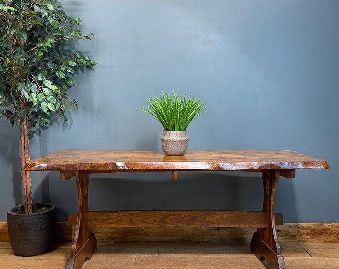 Refectory Elm Dining Table / Rustic Table / Farmhouse Kitchen Table /