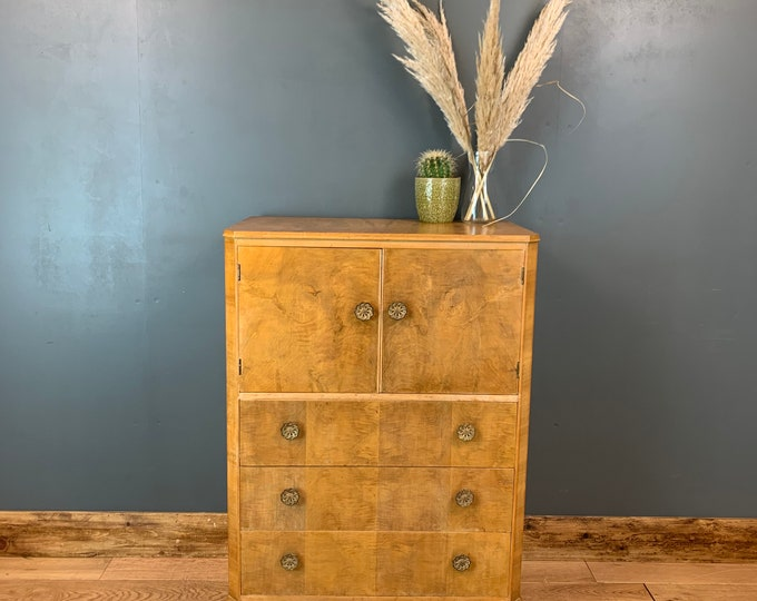 Vintage Tallboy / Vintage Cupboard  / Bedroom Storage / Shabby Chic Cupboard/ Rustic Furniture / Distressed