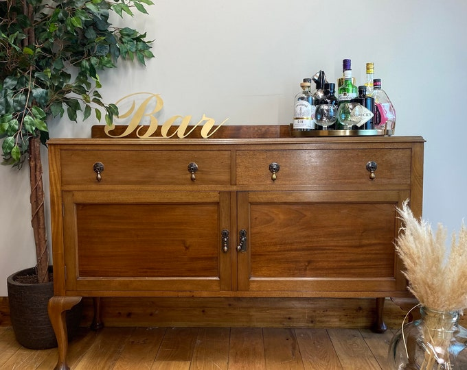 Vintage Sideboard /Drinks Cabinet /vintage Mahogany Sideboard / Buffet Server