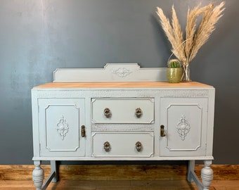 Vintage Painted Upcycled Shabby Chic Sideboard Cabinet Cupboard Blue/grey