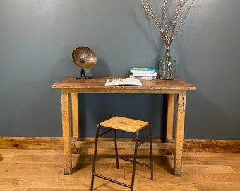Vintage Desk & Stool / Old School Science Bench Desk / Kitchen Island  /Office A