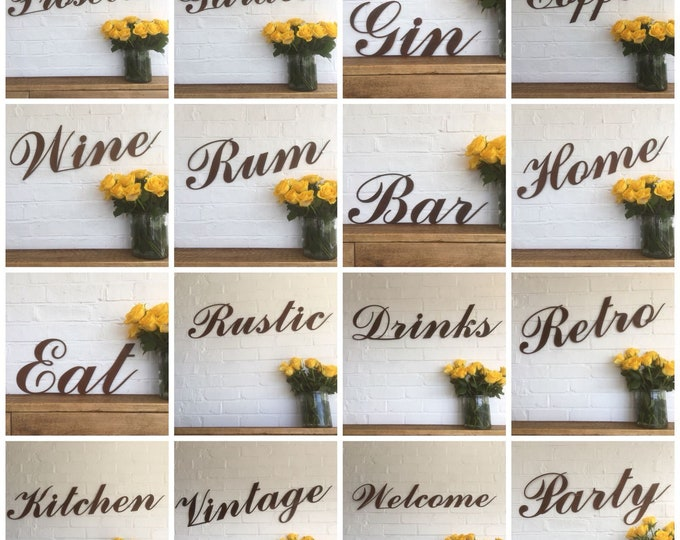 RUSTIC WORDS , RUSTY metal Letters , Rusted Lettering , rustic sign , house sign , kitchen sign , house sign , loads to choose from