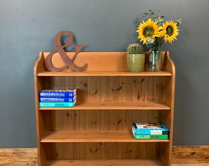 Rustic Vintage Bookshelf Bookcase Shelves Shelving Storage Pine Wooden