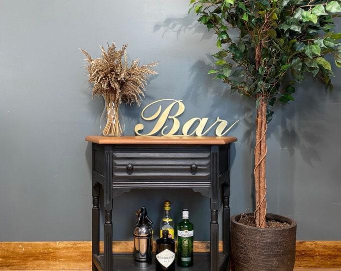 Vintage Black Sideboard /Oak Sideboard / Drink Cabinet / Cocktail Cabinet