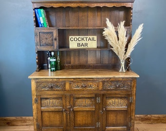 Vintage Oak Dresser / Rustic Oak KitchenCupboard / Kitchen Storage / Sideboard