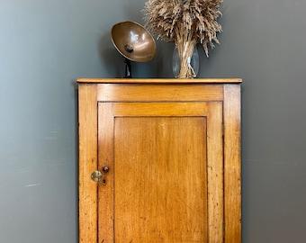 Antique Mahogany Corner Cupboard/ Mahogany And Pine Server / Antique Cabinet