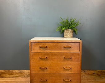 Retro Teak Chest Of Drawers / E Gomme G Plan / Bedroom Drawers / Mid Century