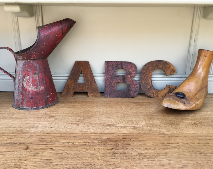 "Rusty 5"" metal alphabet letters, shop signage, initials, house name, rusted lettering , industrial, vintage, numbers, barbers, home, love,"