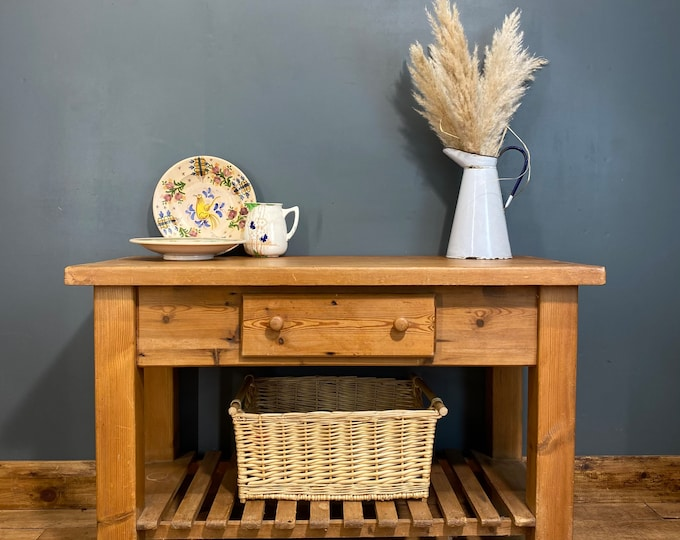 Rustic Butchers Block / Pine Sideboard / Kitchen Island/ Rustic Console Table /