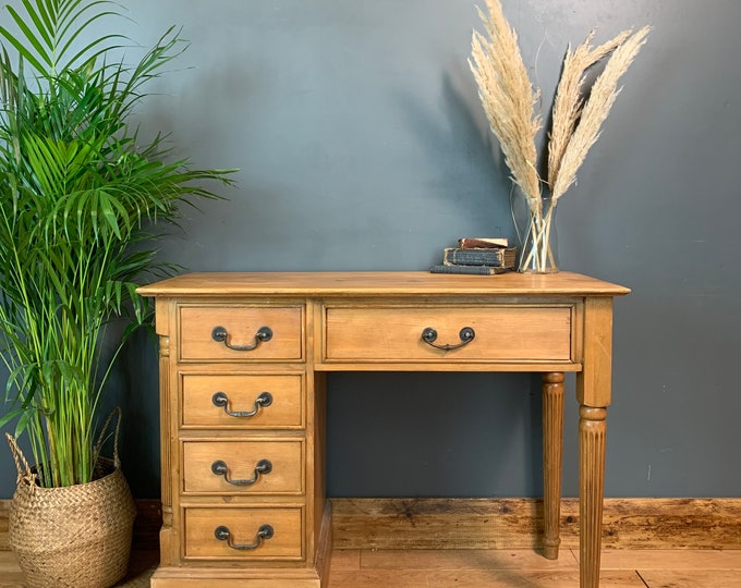 Vintage Pine Desk Rustic Shabby Chic Sideboard Hallway Console Dressing Table