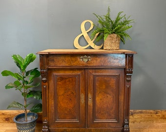 Antique Cupboard / Lamp Table / Walnut Sideboard / Pitch Pine.