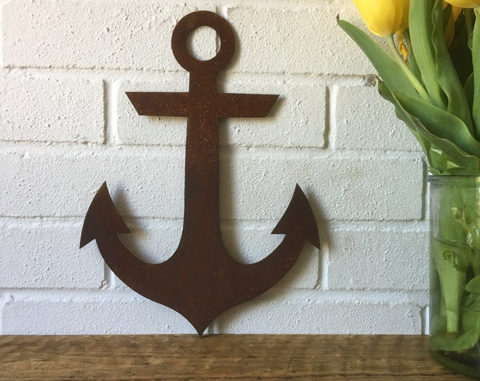 Rusty metal sign , Anchor decoration , garden feature , Ship garden ornament , Boat Nautical decor , for any Shop Bar Pub Cafe house,