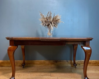 Antique Mahogany Dining Table / extending table / wind out table / kitchen table