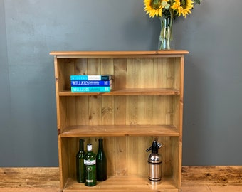 Vintage Pine Bookcase / Pine Bookcase / Rustic Shelving / Vintage Shelving