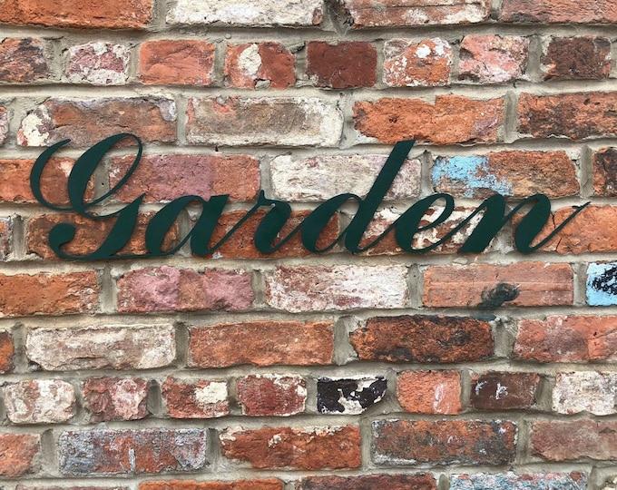 COLOURED GARDEN SIGN , Rustic Words , metal Lettering , garden wall decor , wall art , garden feature , garden ornament
