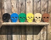 Rustic SKULL SKELETON Sign Metal Shop Home decoration wall art BONES Pirate