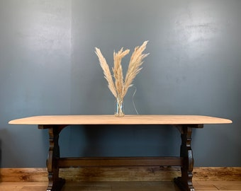Ercol Dining Table / Elm Table / Refectory Table / Rustic Kitchen Table / Dining