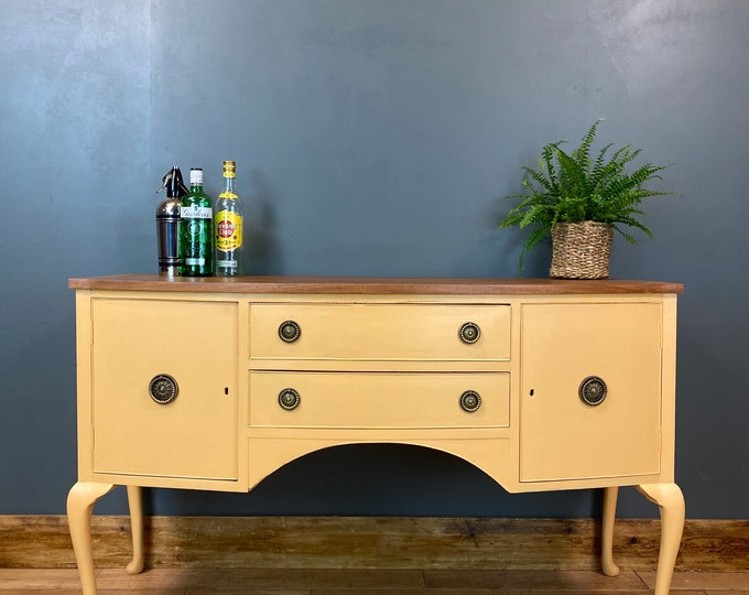 Vintage Sideboard / Painted Sideboard / Shabby Chic Cabinet / Peach Cream