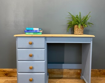Vintage Pine Dressing Table /  Pine Desk / Pine Drawers Table / Rustic Sideboard