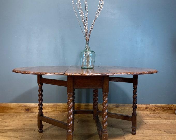Vintage Oak Table / Drop Leaf Table / Oak Sideboard / Extending Table / Gateleg