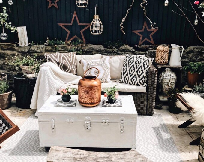 Rusty metal stars  , rustic garden decoration , rusty garden ornaments ,boho decor  , rustic metal star , garden decor , metal barn star ,