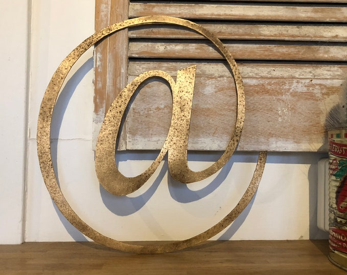Rustic gold @ metal letter. initials, house name, lettering, rusted, coffee shop, eat numbers, barbers, home, love, gin tea