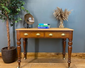 Antique Sideboard / Rustic Console Table / Victorian Desk / Writing Table