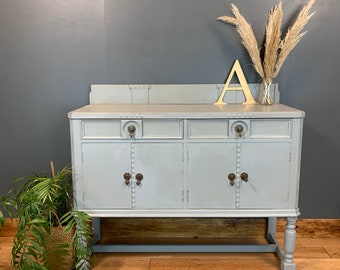 Vintage Painted Upcycled Shabby Chic Sideboard Cabinet Cupboard Light Blue/grey