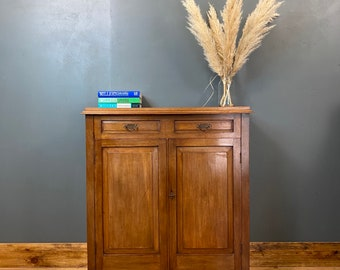 Antique Mahogany Cupboard / Edwardian Sideboard / Double Cupboard