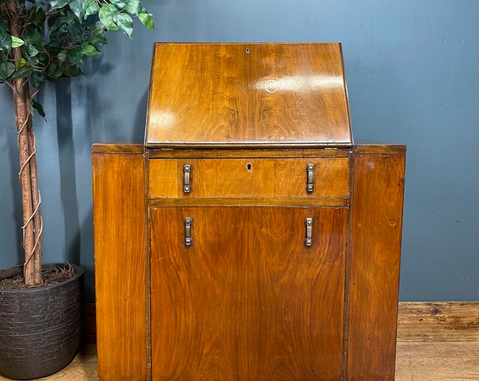 Antique Bureau/ Art Deco Desk / Walnut Bureau / Art Deco Sideboard