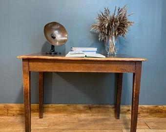 Mid Century MOD Desk / office desk / Vintage Desk / Oak Leather top Desk B