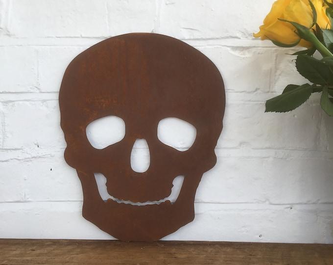 Rusty metal SKULL SKELETON head Sign , rusted Metal , Shop sign , Home sign , home bar sign , Pub , barbershop , Pirate