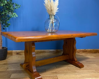 Refectory Pine Dining Table / Rustic Table / Farmhouse Kitchen Table /