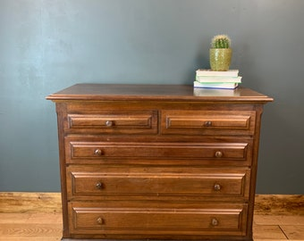 Vintage Chest Of Drawers Sideboard Bedroom Dresser Storage Mahogany