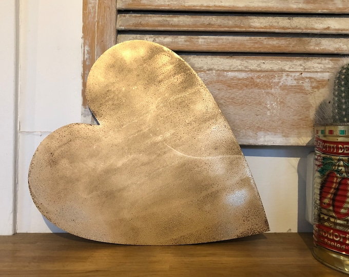Rustic gold HEART  , metal letters , rustic lettering , gifts for home , present for a loved one , rustic home decoration ,