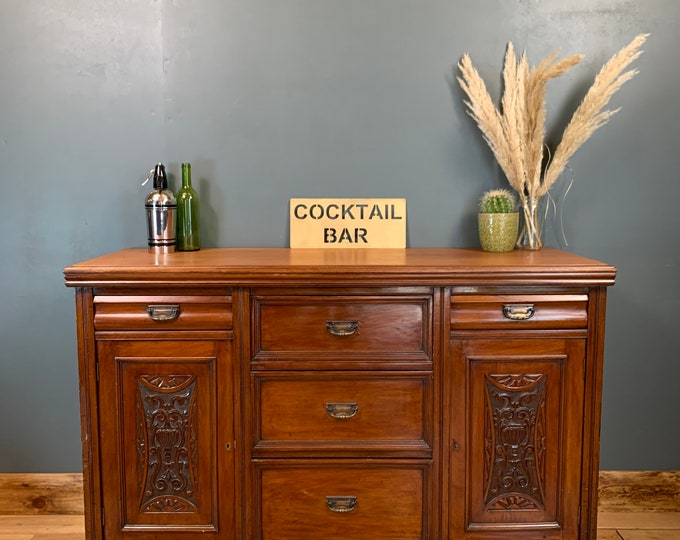 Antique Sideboard / Mahogany Sideboard / Drinks Cabinet / Cocktail Cupboard