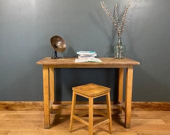 Vintage Desk & Stool / School Lab Science Bench Desk / Kitchen Island  /Office C