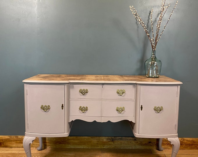 Vintage French Style Sideboard / Painted Shabby Chic /Rustic Buffet Server
