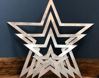 4 Metal stars , Shabby Chic decor , Rustic wall decor , Barn Star ,