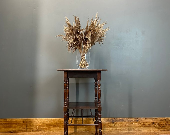 Antique Side Table / Aesthetic Movement Lamp Table / Bedside Table / Plant Stand
