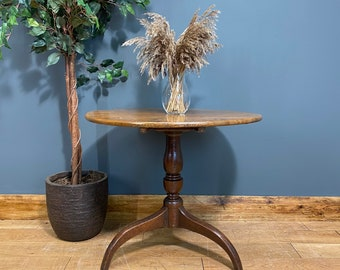 Antique Occasional Table / Victorian Table / Oak Round Table / Lamp Side Table / Tilt top table / Side Table