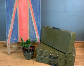 Vintage Military Suitcase / Bathroom Cabinet / Wall Cupboard /upcycled kitchen bathroom Metal