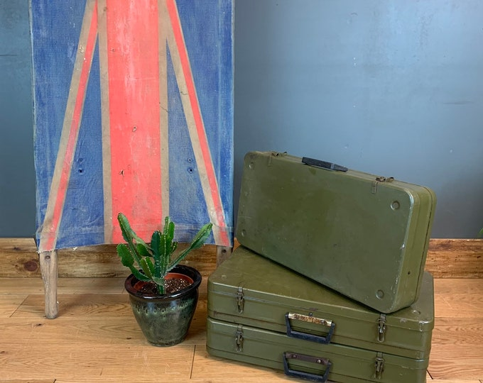 Vintage Military Suitcase / Bathroom Cabinet / Wall Cupboard /upcycled kitchen bathroom Metal