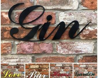 RUSTIC WORDS , metal Lettering , metal Letters Sign , garden bar , Home Bar ,  Pub sign , Man Cave sign , Cafe decor , drinks sign ,