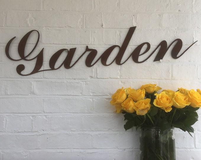 Rusty metal , GARDEN SIGN , METAL Lettering , rustyLetters  , Vintage Wedding sign , beer garden , rustic garden , garden decor , wall decor